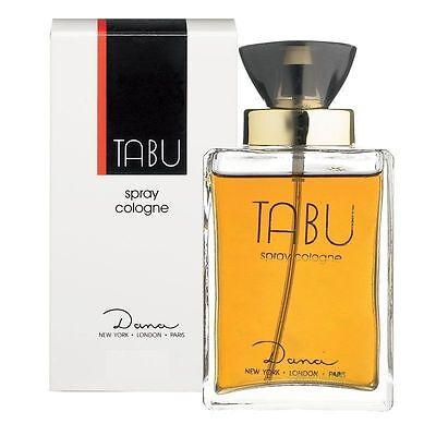 Tabu Eau De Cologne Spray (NEW Tabu by Dana Eau de Cologne Spray 100ml BRAND NEW & SEALED UK)