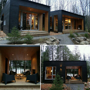 Contemporary house with studio ( Waterfront )Mont-Tremblant area