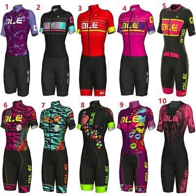 Women Jumpsuit Cycling Jersey Set Summer Women Short Bike Bicyle Tight Skin suit (Skin Suit)