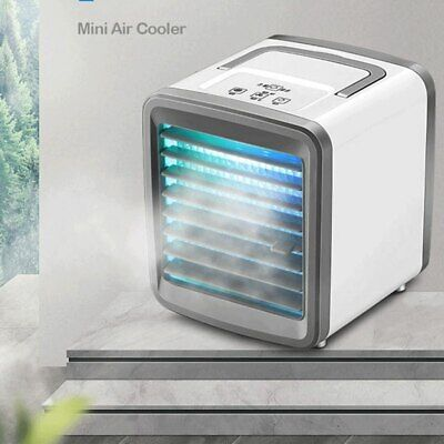 Portable Mini Low Noise Air Cooler Conditioner Fans Household Room Bedroom