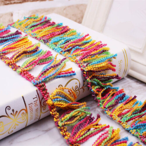 4 cm Width Colourful Tassels Lace Trims Fringing Lace 1 yard