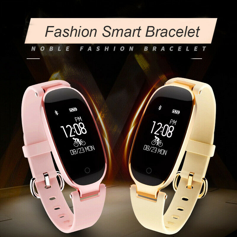 S3 Women Waterproof IP67 Smart Watch Bluetooth Fitness Calorie Tracker Bracelet Cell Phones & Accessories