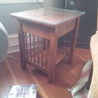 Solid Oak Mission Style Tables