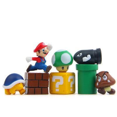 8pcs Super Mario Bros Mini Figures Doll Figurines Playset Cake Topper Gift - Mario Cake Topper