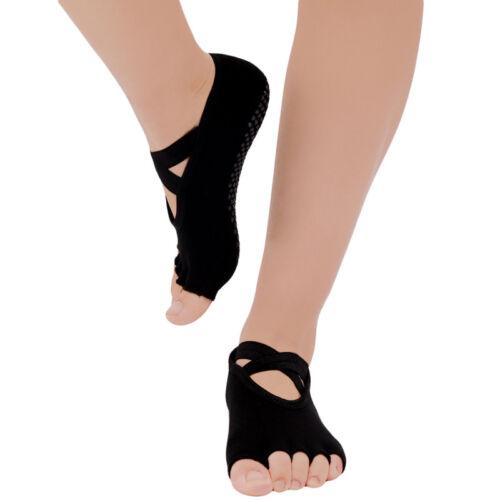 arrives new high quality pretty cheap Details about 1Pair Half Toe Ankle Grip Yoga Dance Pilates Socks Five  Finger 5 Toe Non Slip QL