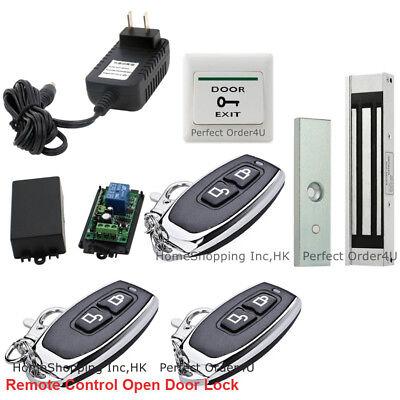 Door Access Control System with Door Magnetic Lock+3 Wireless Receiver& Remotes