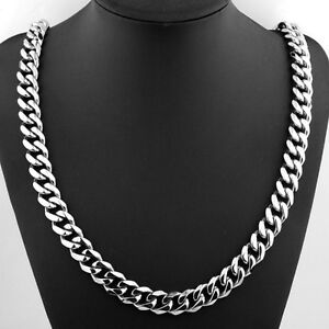 30 inch Stainless Steel Curb Cuban Chain Necklace  NEW!