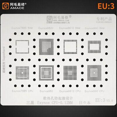 Amao Eu3 Reballing Stencil For Samsung Cpu Exynos 7885ram98209610 Cpu
