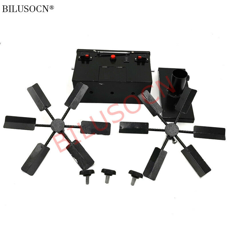 Remote double wheel windmill type stage cold fountain fireworks firing system