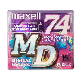 Buy 2 Get 1 Free!! Maxell MD-74 Digital Recordable Minidiscs.