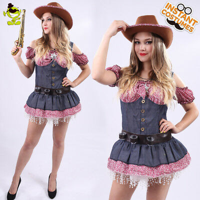 Cowgirl Costumes For Adults (Sexy Western Cowgirl Costume Women Cool Cowgirl Cosplay Fancy Dress for Party)