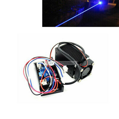 100mw 445nm 450nm 12v Blue Dot Laser Diode Module W Ttl Driver Fan