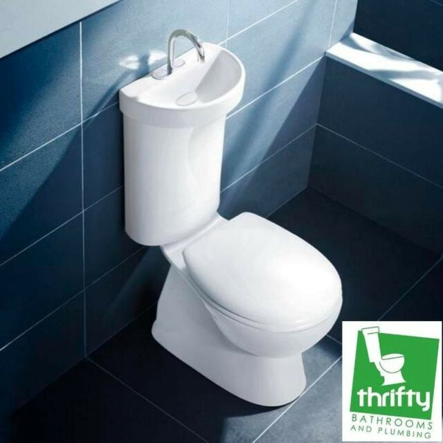 Caroma Profile 5 Deluxe Toilet With Integrated Hand Basin Ceramic ...
