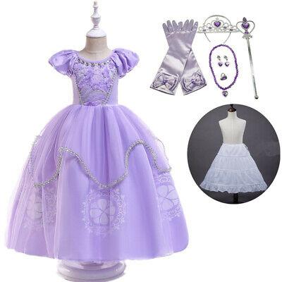 Girl Priness Sofia Cosplay Costume Kids Halloween Party Fancy Dress Xmas GIft ](Halloween Kids Gifts)