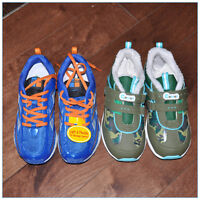 2 pairs boy's NEW shoes run shoes NICE!--$25  only!