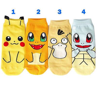 Anime Pokemon Pikachu kawaii Character Socks Pocket Monsters Women Kid Socks