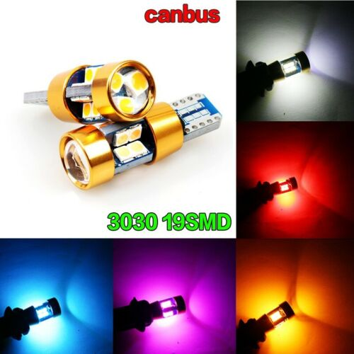 4X NEW ERROR FREE CANBUS 501 12SMD LED SIDELIGHT PURPLE BULBS  T10 W5W 194 DC12V