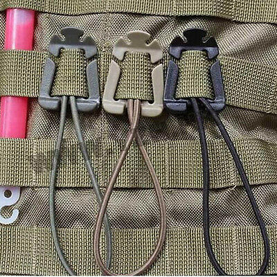 Lot 2PCS EDC Bag Mini Tool Backpack Carabiner Molle Buckle Clip Winder Update