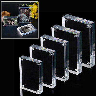 High Clear Photo Frame Picture Double Side Free Standing Magnetic Acrylic Holder Double Picture Frame Magnet