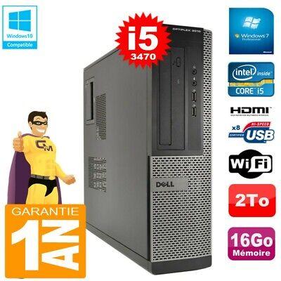 PC DELL 3010 DT Core I5-3470 Ram 16Go Disque 2 To Graveur DVD Wifi W7