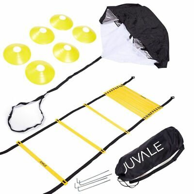 Juvale Speed And Agility Training Set - Includes Agility Ladder W/ Carrying Bag