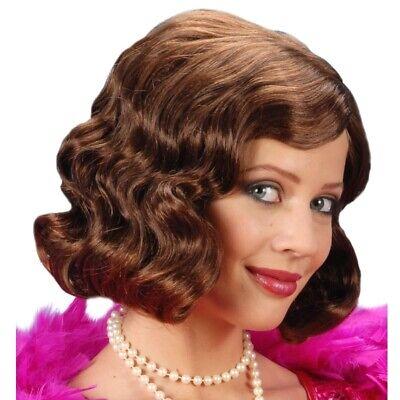20er 30er Damen Perücke braun - Charleston Flapper Girl Gatsby Babylon #0997 ()