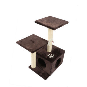 "Brand New: 28"" Cat Tree with Attached Toy"