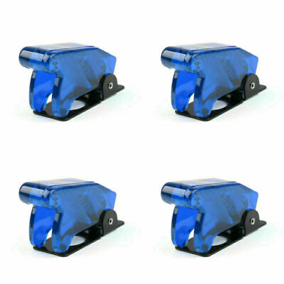 4pcs Toggle Switch Boot Plastic Safety Flip Cover Cap 12mm Clear Blue Ca T4