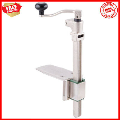 Commercial Light Duty Manual Can Opener W Plated Steel Base Table Mounted New
