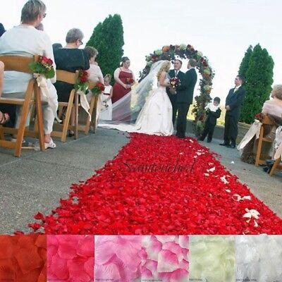 200 / 1000PCS Flowers Silk Rose Petals Wedding Party Table Confetti Decoration - Artificial Rose Petals