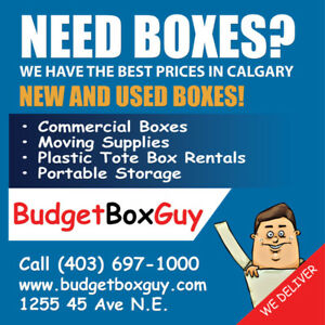 Are you moving? New & Used Boxes,MOVING Blankets 403-697-1000
