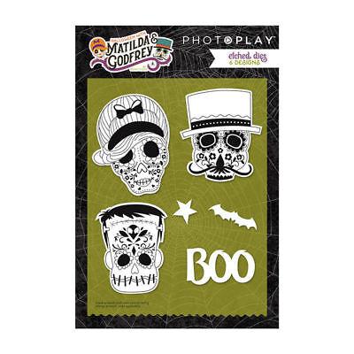 Photo Play Matilda Godfrey Etched Die Set 9 Designs Halloween Day of Dead