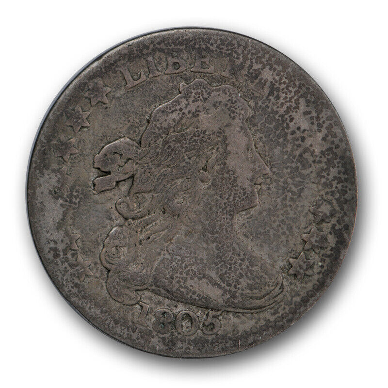 1805 10C Draped Bust Dime Good G Early US Type Coin 4 Berries R164