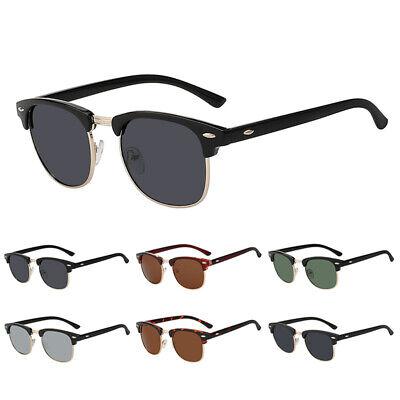 Vintage Retro Half Frame Sunglasses Classic Inspired Designer Rimless (Retro Half Frame Sunglasses)