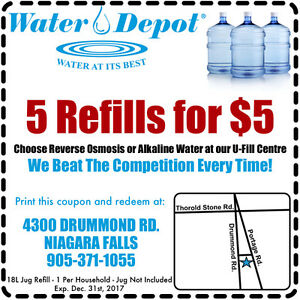 ✭✭ COUPON ✭✭ for Water Cooler Jug Refill