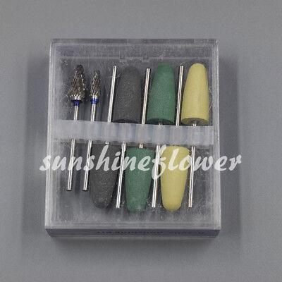 Dental Polishing Burs Drill Resin Base Acrylic Polisher Rotary Tools 8 Pcsset