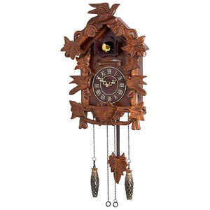 NEW CUCKOO CLOCK BLACK FOREST GERMAN WOOD VINTAGE BIRD