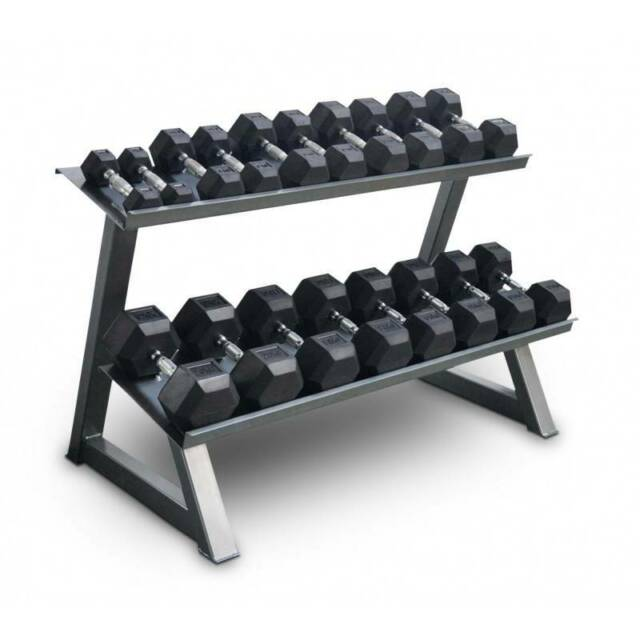 10-30kg RUBBER HEX DUMBBELL WEIGHTS GYM PACKAGE INC