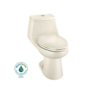 Glacier Bay One Piece Elongated Dual Flush Toilet