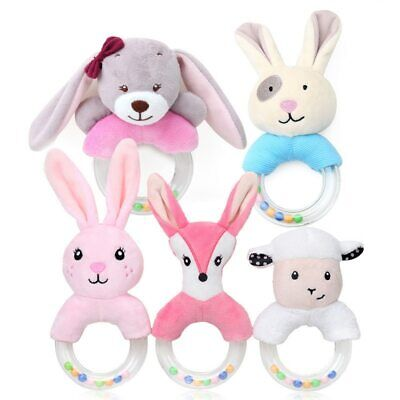 Cartoon Baby Rattle Toys Hand Bells Plush Soft Toys Newborn Bed Educational Toys