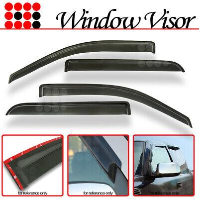 Fit 2008-2014 Dodge Avenger Window Visor Sun Wind Rain Guard Wind Deflector