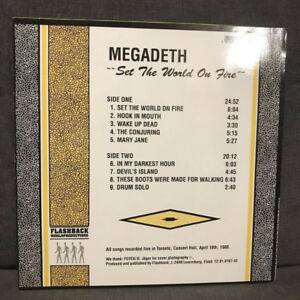 Megadeth Live in Toronto Record & others