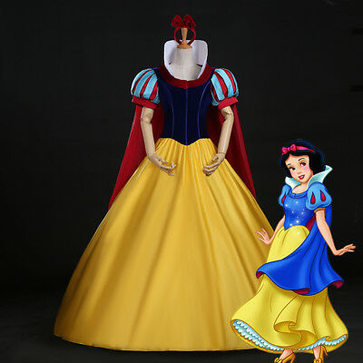 Snow White Adult Costume Princess Cosplay Dress Halloween Party Fancy Ball - Halloween Fancy Dress Ball