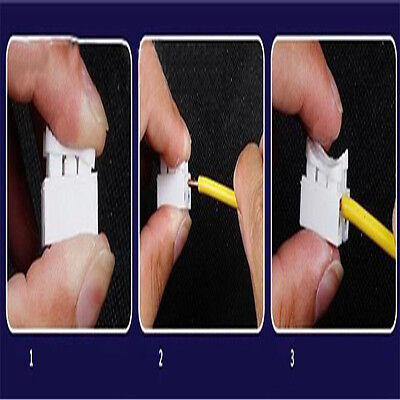 30Pcs Electrical Car Cable Connector Wire Terminals Quick Splice Self Locking CL