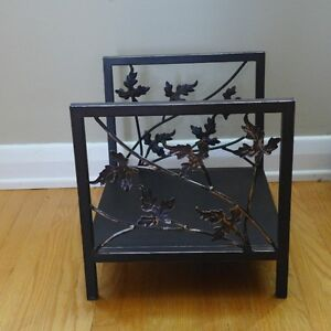 Small decorative indoor metal firewood rack
