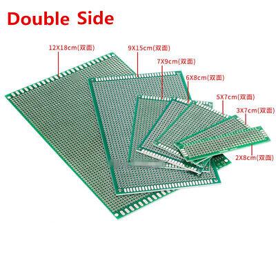 2pcs Prototype Pcb Circuit Board Universal Stripboard Veroboard Solder 2x8-12x18