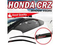Fits 11-16 Honda CRZ Hatchback Smoke Tape On Window Visors Rain Deflectors Shade