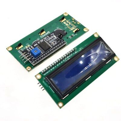 1pc Iici2ctwispi Serial Interface1602 16x2 Character Lcd Module Display Blue
