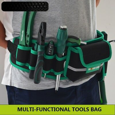 Men Multi-Pockets Waist Tool Bag Utility Pouch Electricians