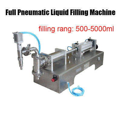 500-5000ml Full Pneumatic Semi Automatic Water Bottle Liquid Filling Machine